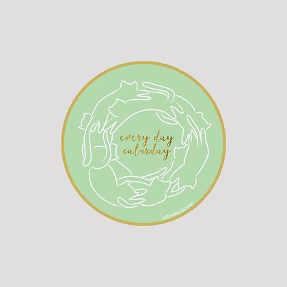 Every Day Caturday VINYL Sticker
