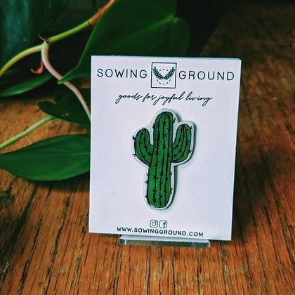 Saguaro Cactus Resin Lapel Pin | SECONDS