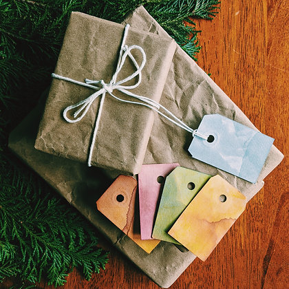 Naturally Dyed Gift Tag Pack (10)