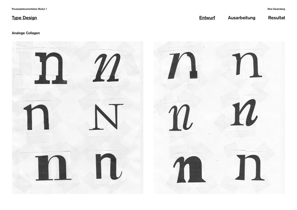 Analogue Type Design