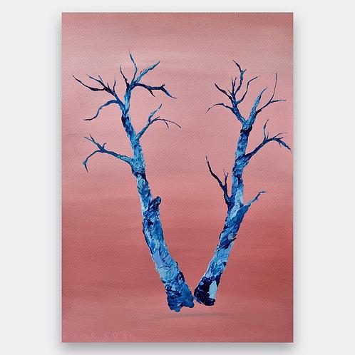 'blue tree' paper piece II