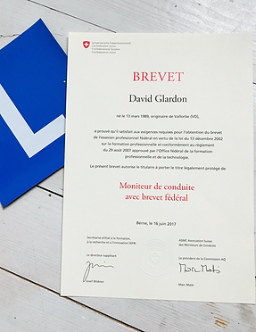 BREVET FÉDÉRAL DAVID GLARDON