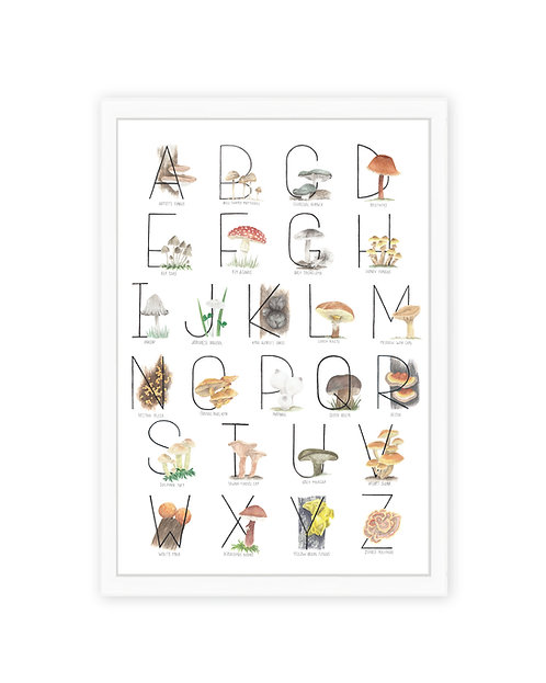 Mushroom Alphabet Print
