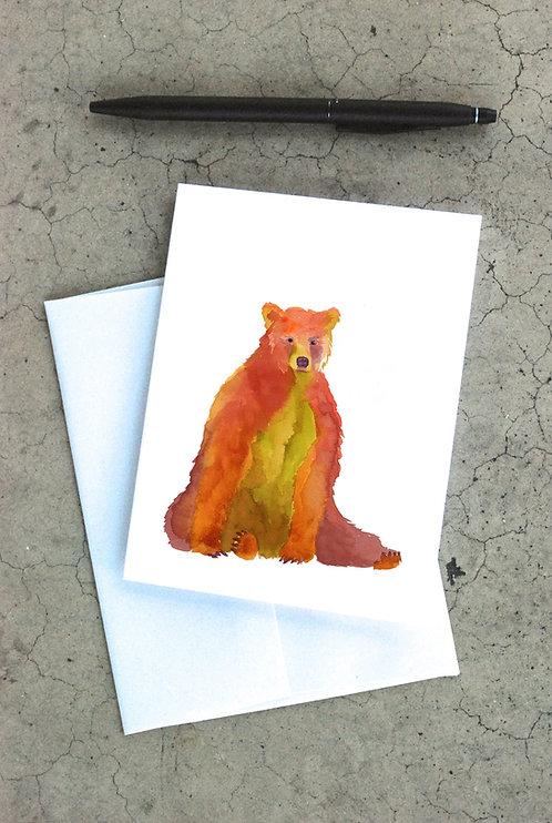 Autumn Bear Card