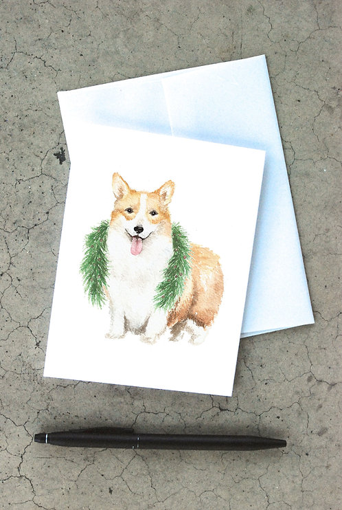 Christmas Corgi Card