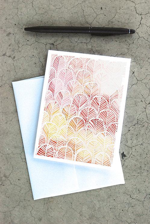 Geometric Leaves Card