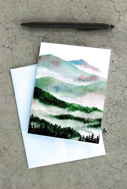 Foggy Mountains Card
