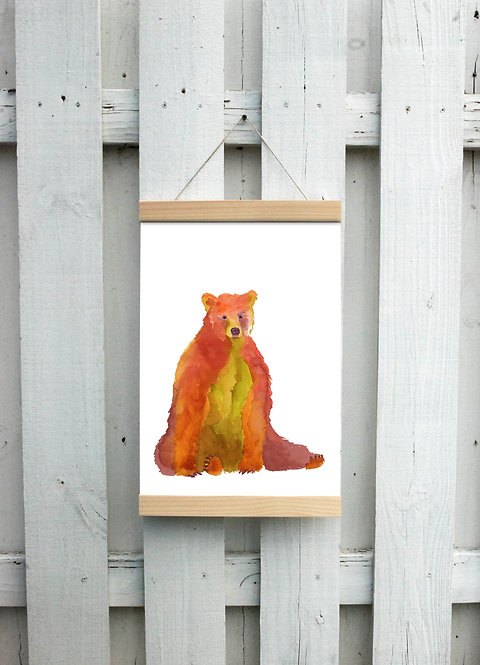 Autumn Bear Canvas Hanging Print