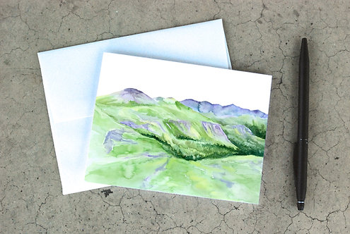 Summer Mountains Card
