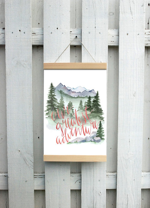 Our Greatest Adventure Canvas Hanging Print