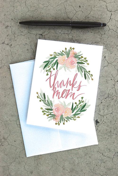 Thanks Mom Card