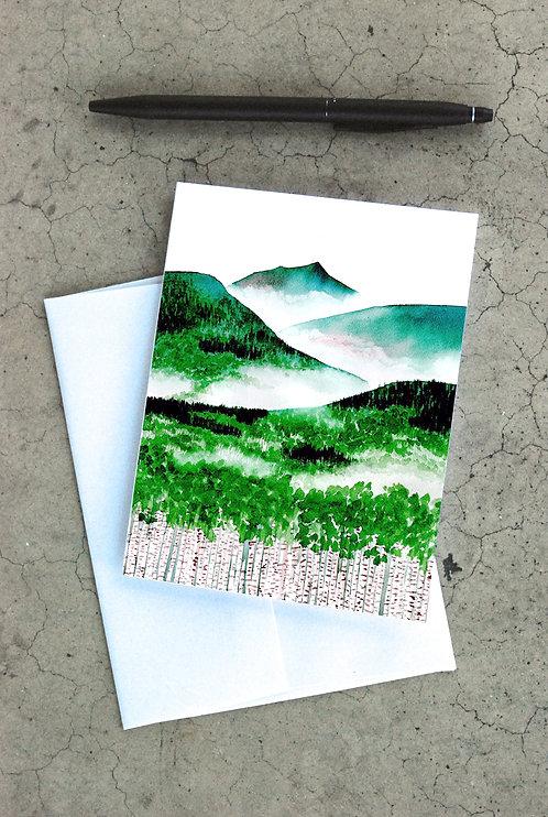 Aspen Mountains Card