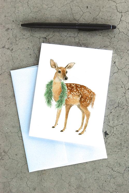 Garland Fawn Card