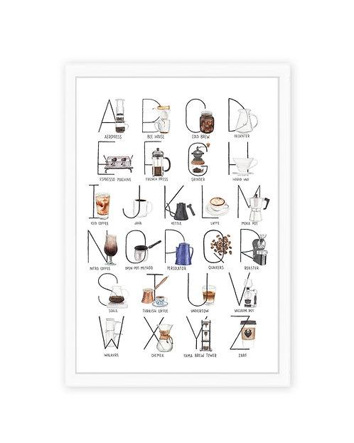 Coffee Alphabet Print