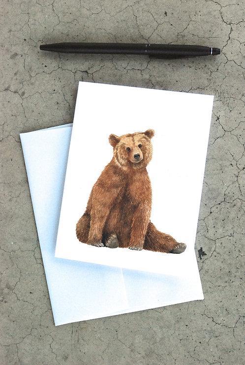 Brown Bear Card