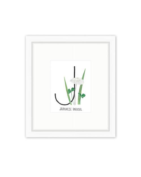 Japanese Parasol Letter