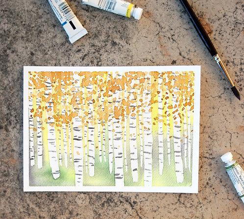Framed Hanging Aspen Print