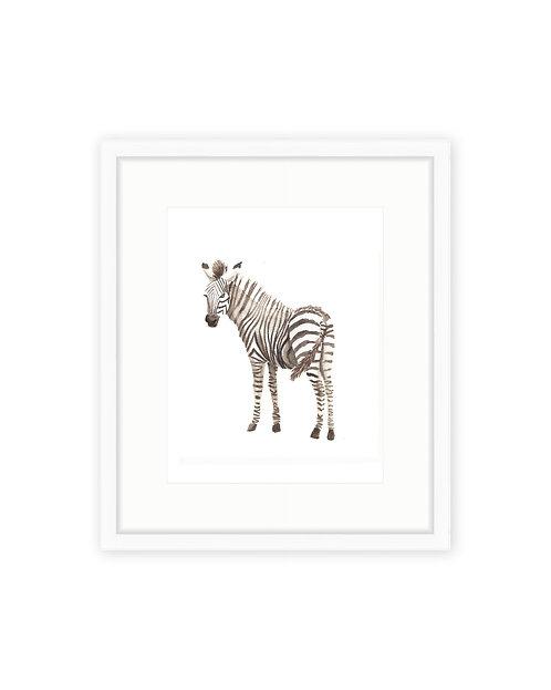 Baby Elephant & Zebra
