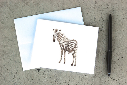 Baby Zebra Card