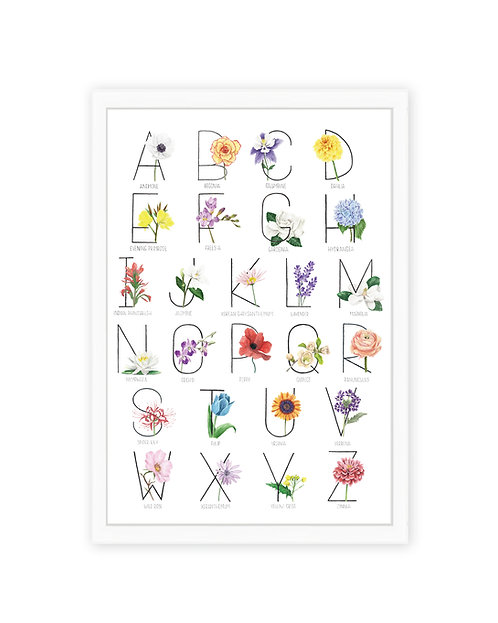 Botanical Alphabet Print