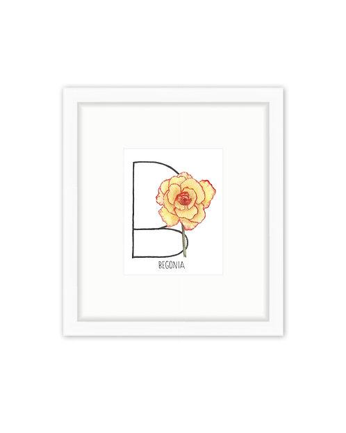 Begonia Letter