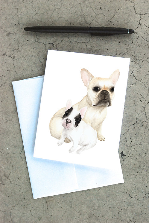 French Bulldogs Card