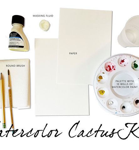 Watercolor Cactus Supply Kit