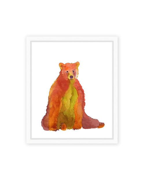 Autumn Bear Print