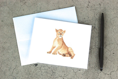 Baby Lion Card