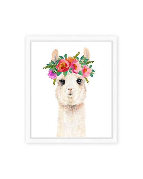 Flower Crown Llama