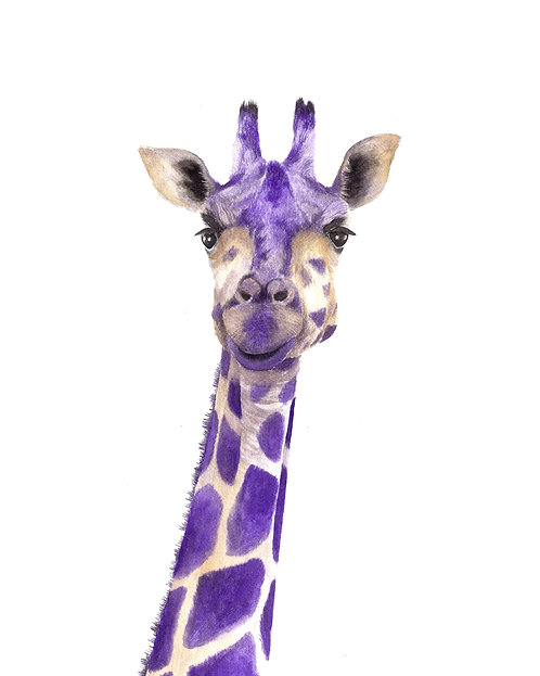 18x24 Purple Giraffe