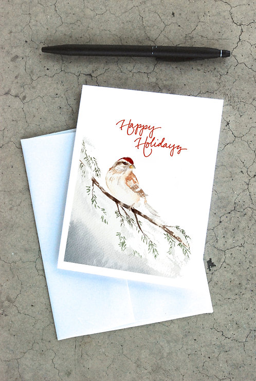 Winter Sparrow Card
