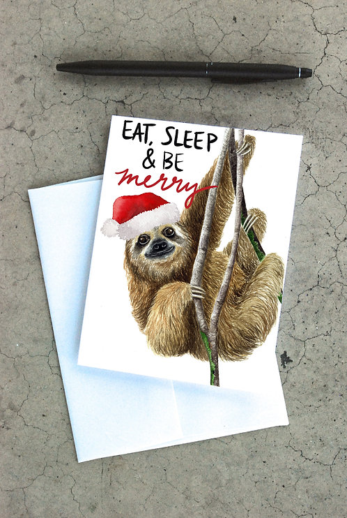 Eat, Sleep & Be Merry Card