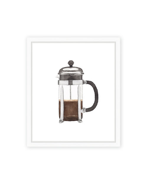French Press Print