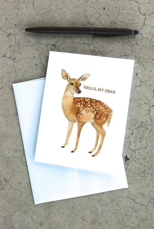 Hello My Dear Card