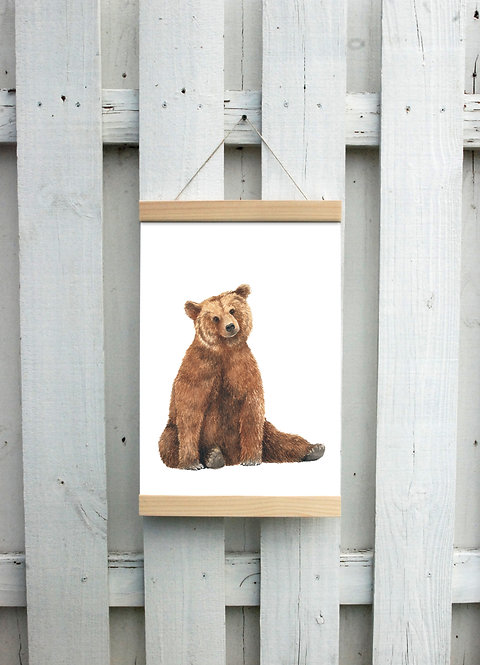 Brown Bear Canvas Hanging Print