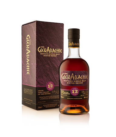GlenAllachie 12 Years Old with box side.