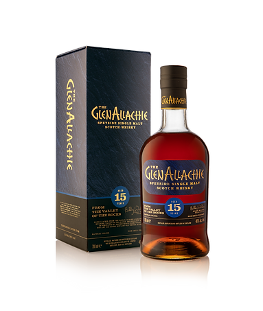 GlenAllachie 15 Years Old with box side.