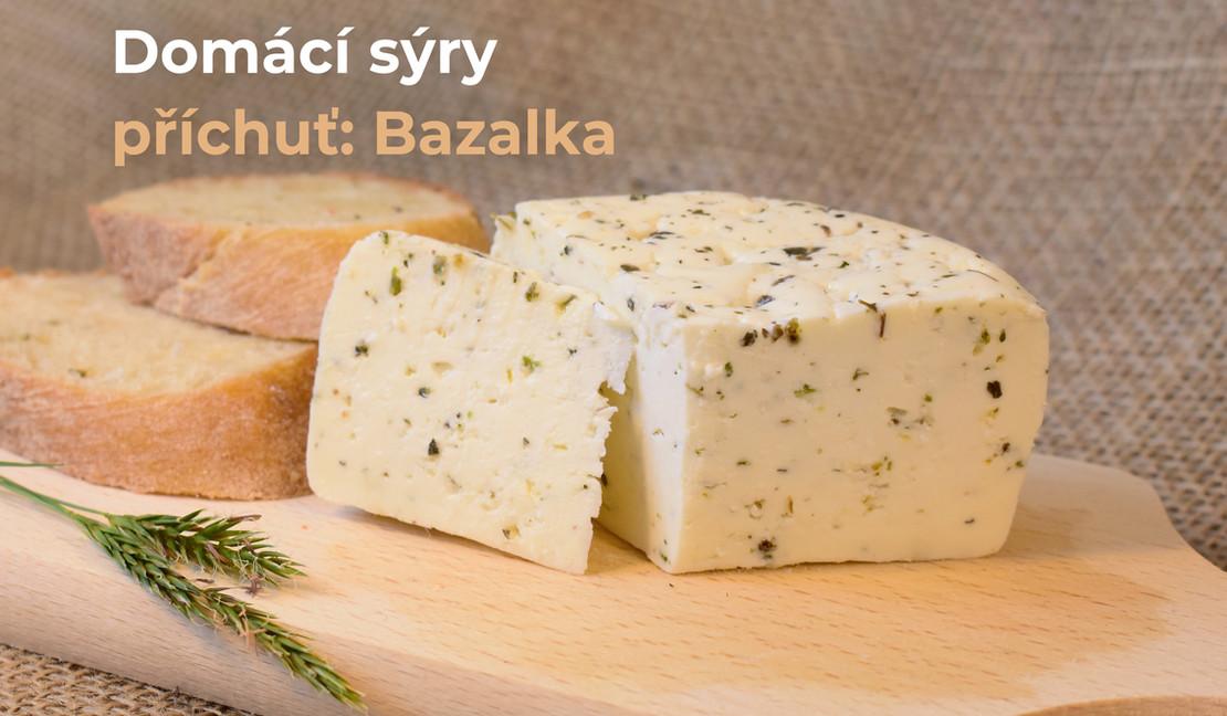 sýr: příchuť bazalka