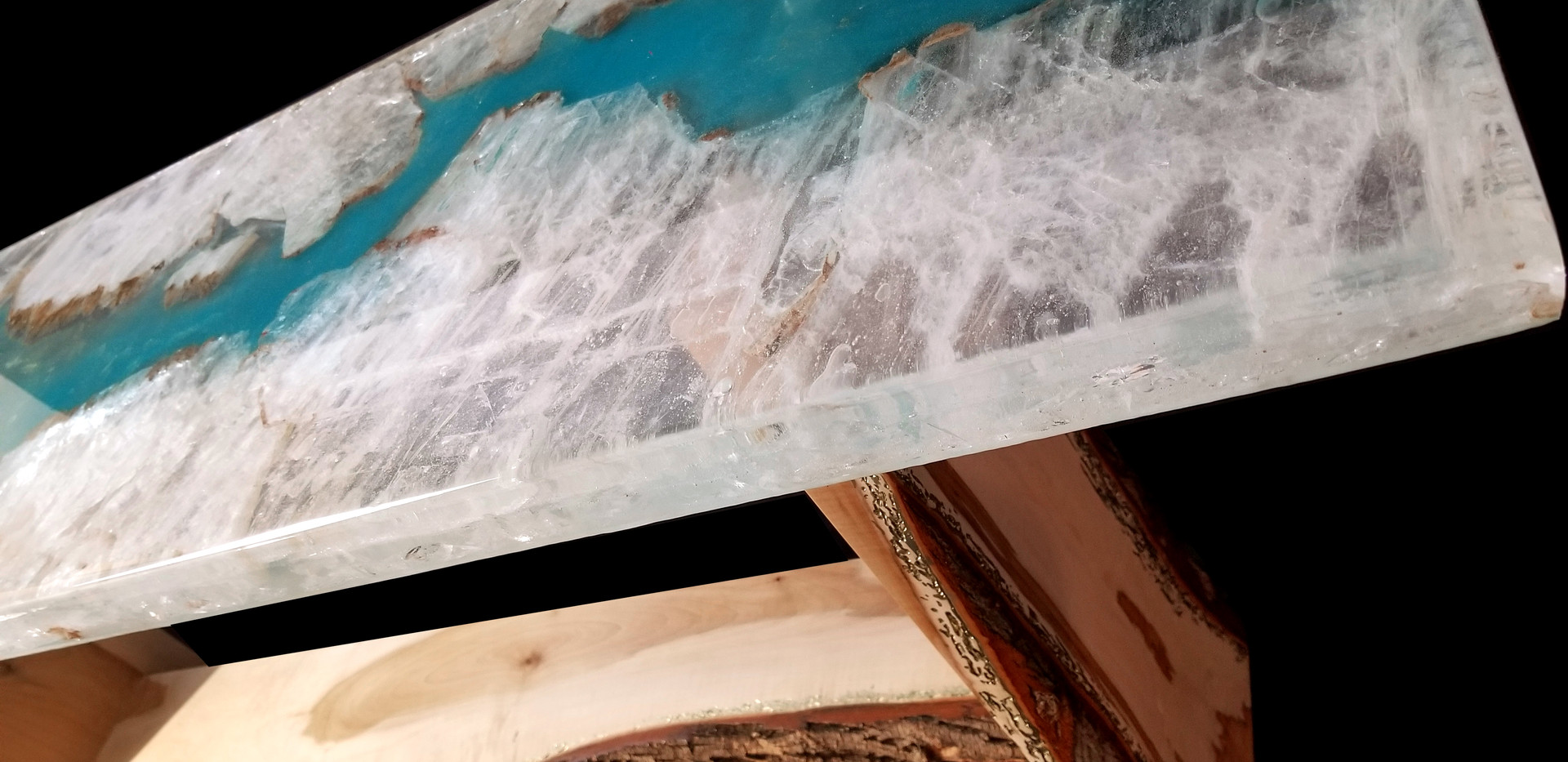 Hand chosen selenite slab for tabletop from Jalisco Mexico