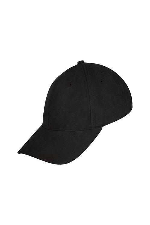 Suede Baseball Cap - Black