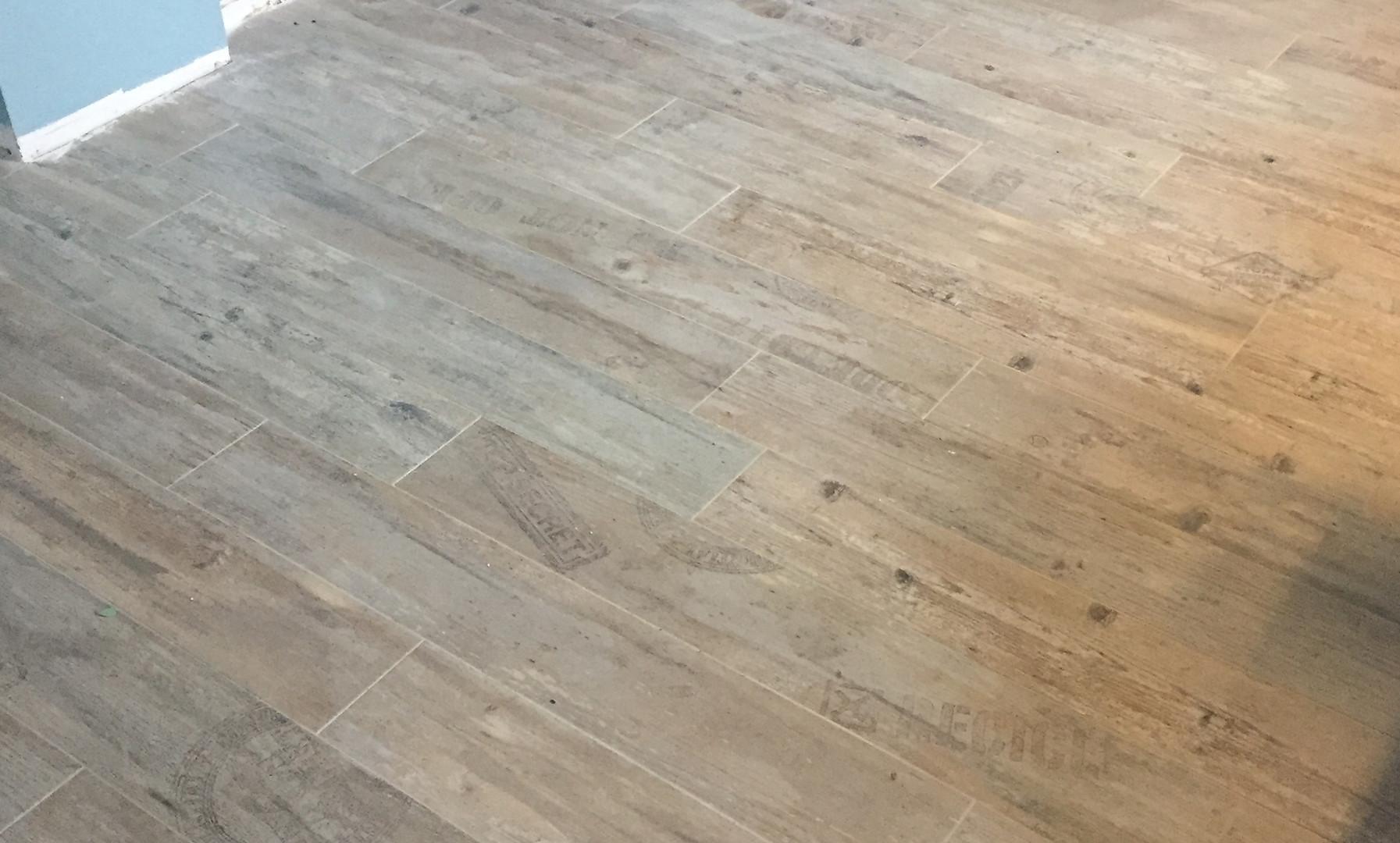 Faux Board Tile Install