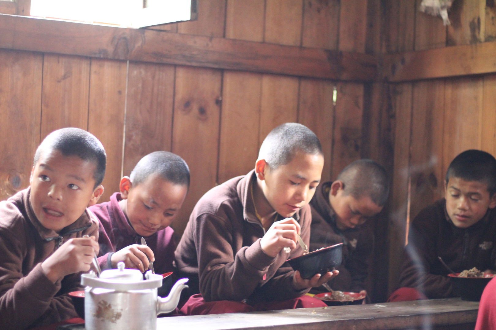 Meal time for little monks