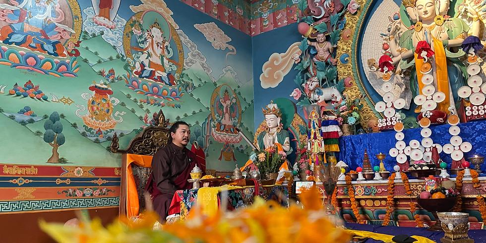 Accumulation of the six syllable Mani Mantra of Avalokiteshvara (Chenrezig)