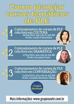 Como planejar cursos temáticas de PLE.p