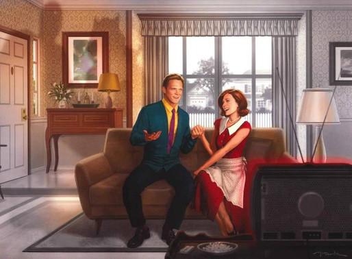 WandaVision   Arte Promocional destaca estilo SitCom da série