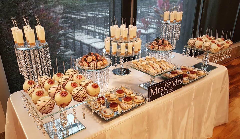 elegant dessert table spread