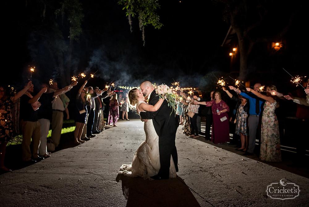 Orlando Club Lake Plantation Wedding Sparkler Exit Dj and Entertainment