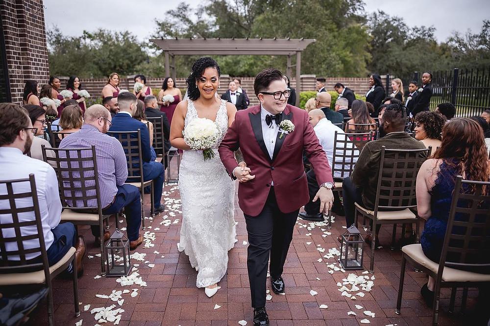 wedding couple recessional