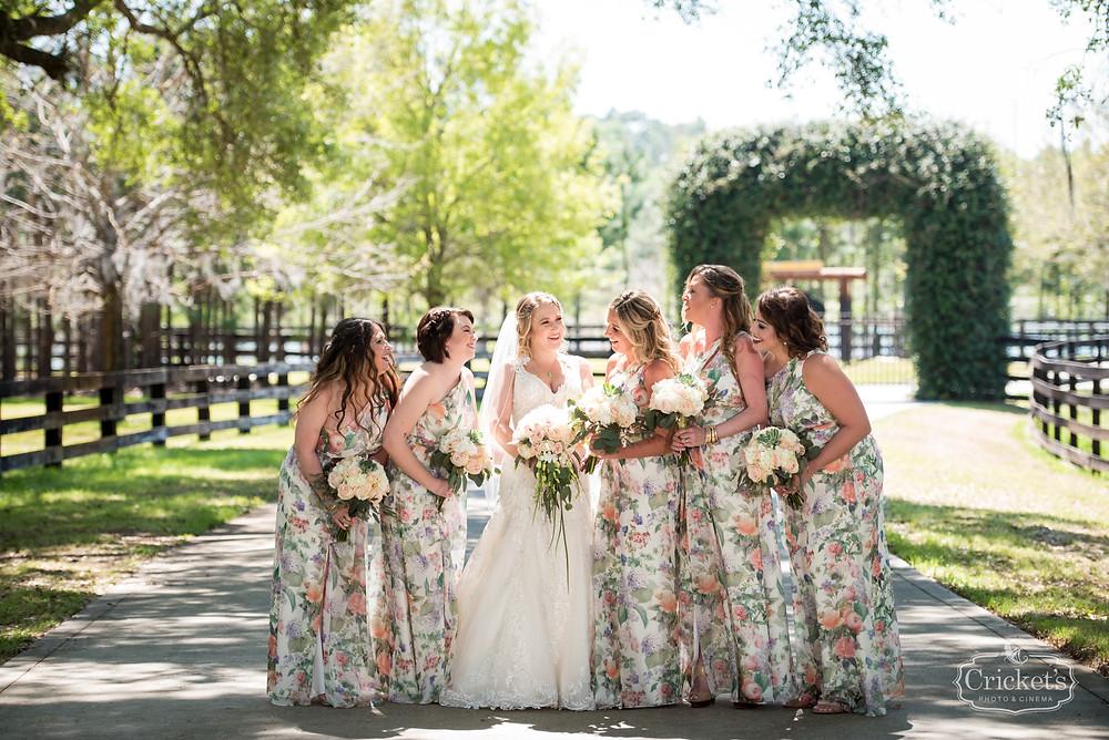Orlando Club Lake Plantation Wedding Bride and Bridesmaid Dresses